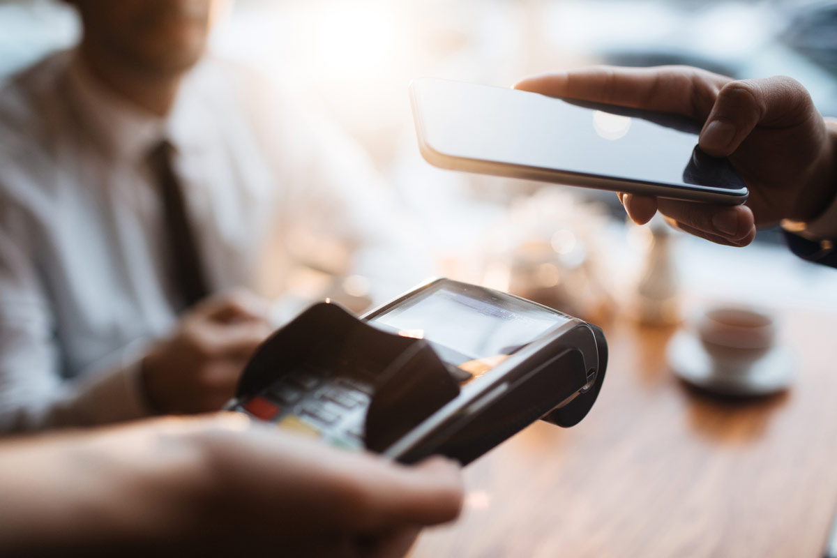 Mobilbetalning på terminal